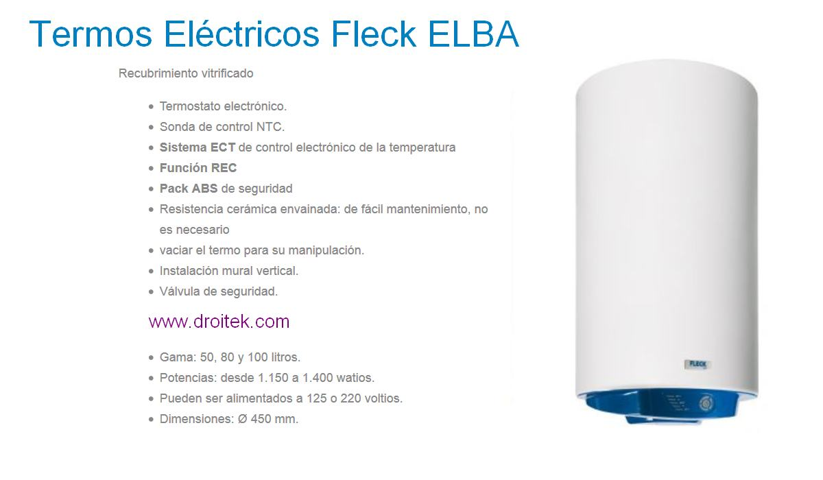 Termo el ctrico fleck elba calidad a buen precio - Termo electrico precios ...