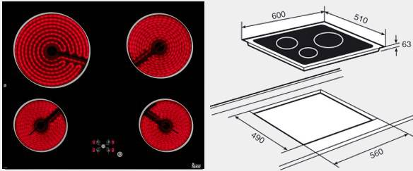Placa vitroceramica teka tr 600 4f cristal - Placa vitroceramica teka ...