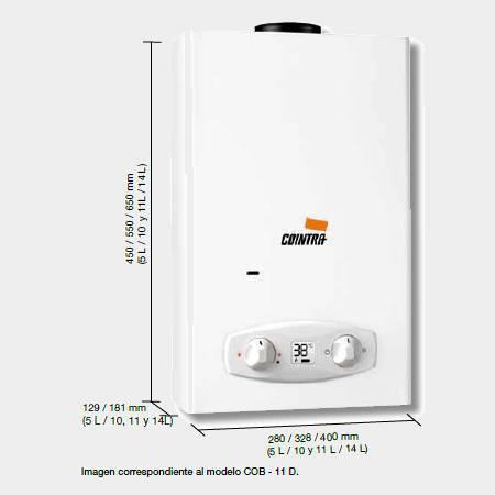 Calentador de gas butano cointra cob 11 d 2369 interior optima - Calentador de butano ...