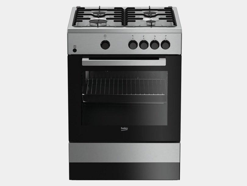 Beko fsg62000dxl cocina de gas inox 4 fuegos 85x60x60 - Cocina gas beko ...