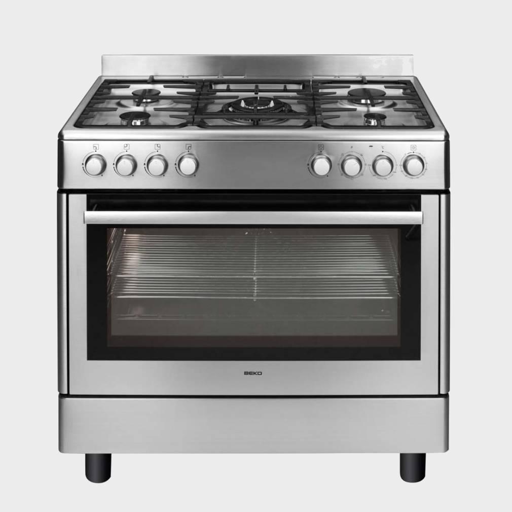 beko gm15121dx cocina de gas de 5 fuegos 85x90