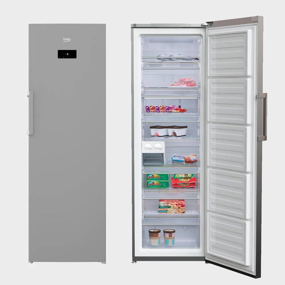 Congelador vertical beko rfne312e33x nuevo ebay for Congelador vertical pequeno