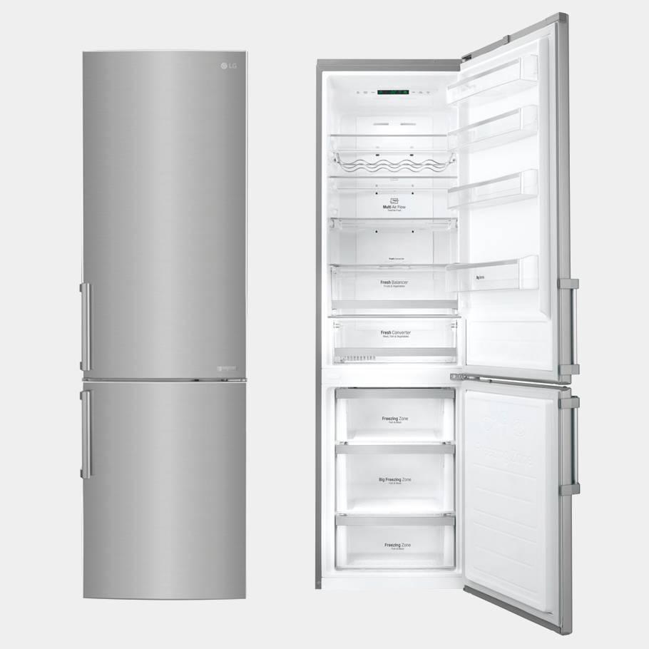 lg gbb60pzgfb inox frigo combi no frost 201x59 5 a. Black Bedroom Furniture Sets. Home Design Ideas