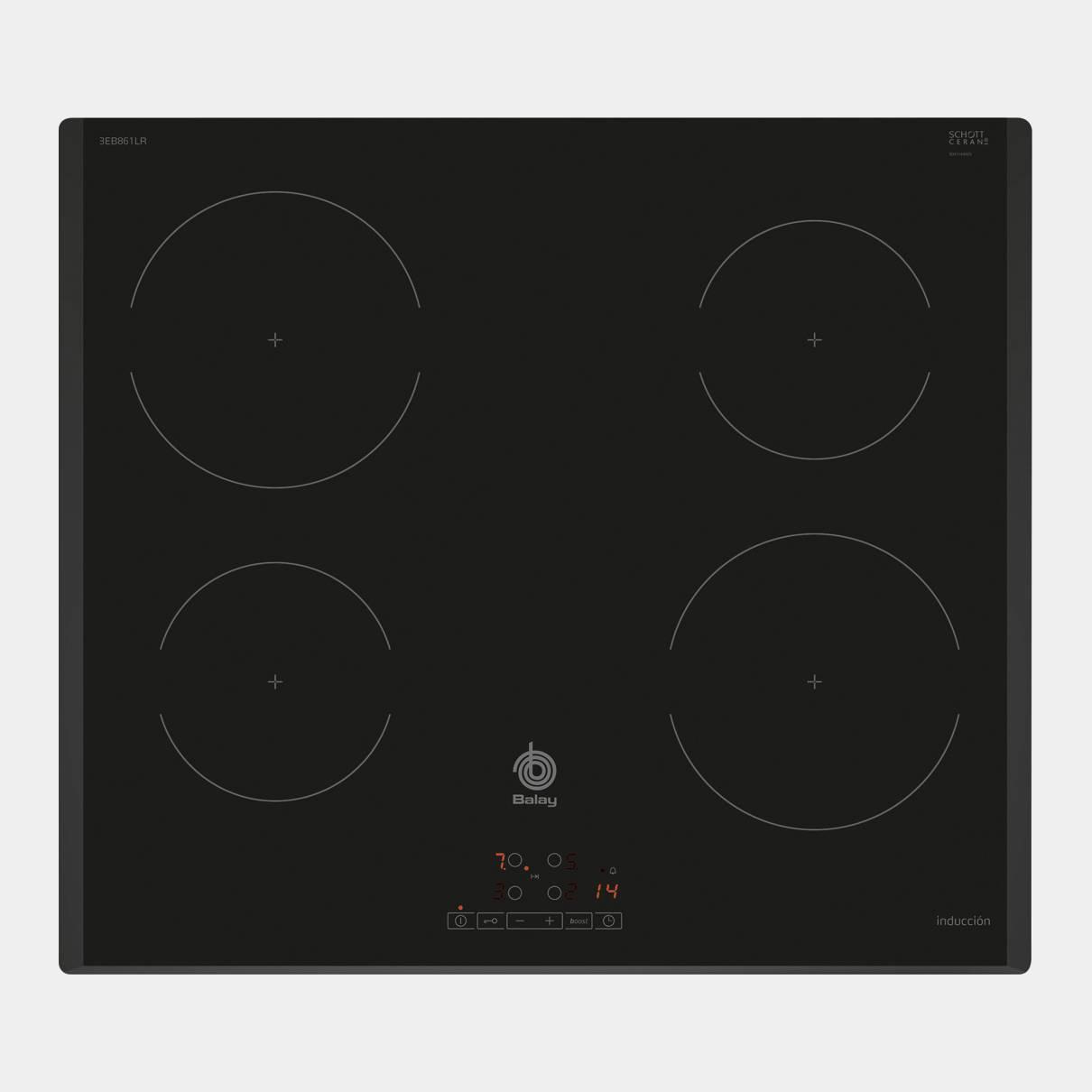 Placa de inducci n balay 3eb861lr de 4 fuegos - Cocinas de induccion balay ...