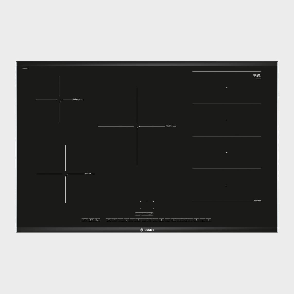 bosch pip875n17v placa induccion 4 fuegos 80 cm. Black Bedroom Furniture Sets. Home Design Ideas