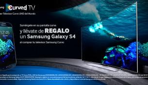 Promocion Samsung para televisores curvos
