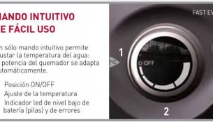 Mando electronico del calentador fast evo de Ariston