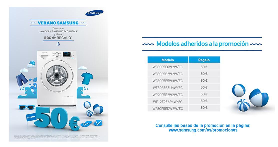 Promociones de verano en lavadoras samsung