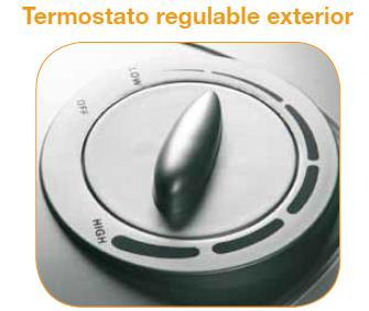 Mando para reglar la temperatura del aral tnc