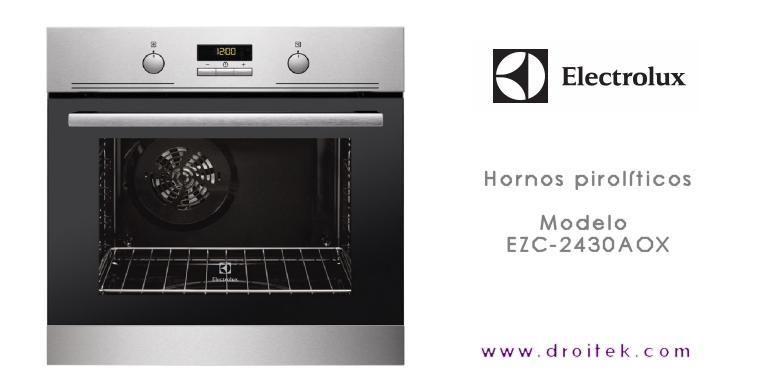 Horno electrolux ezc2430aox ganar s en facilidad de limpieza - Limpieza de horno ...