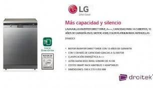 Lavavajillas LG D1483CF