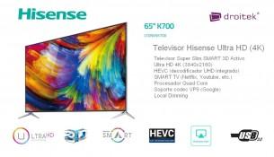 Televisor Hisense 65K700
