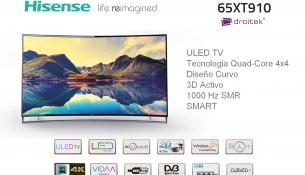 Televisor curvo Hisense 65XT910