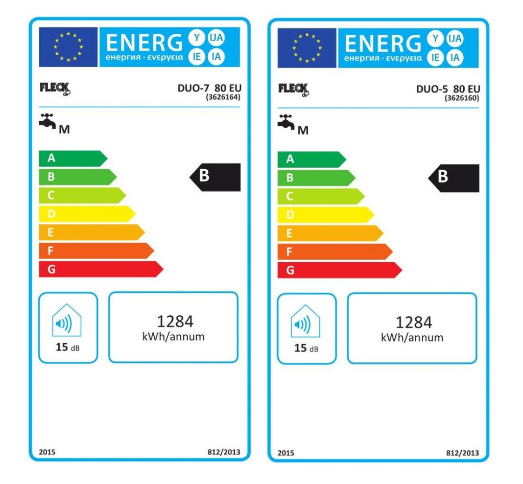 Clase energetica Fleck Duo5 Duo7