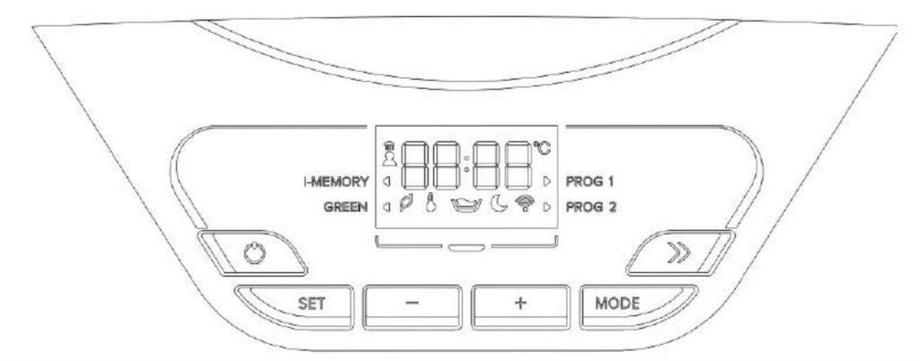 Ariston Lydos Hybrid pantalla digital