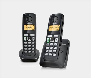 Telefono Gigaset A220 Duo Dect Negro