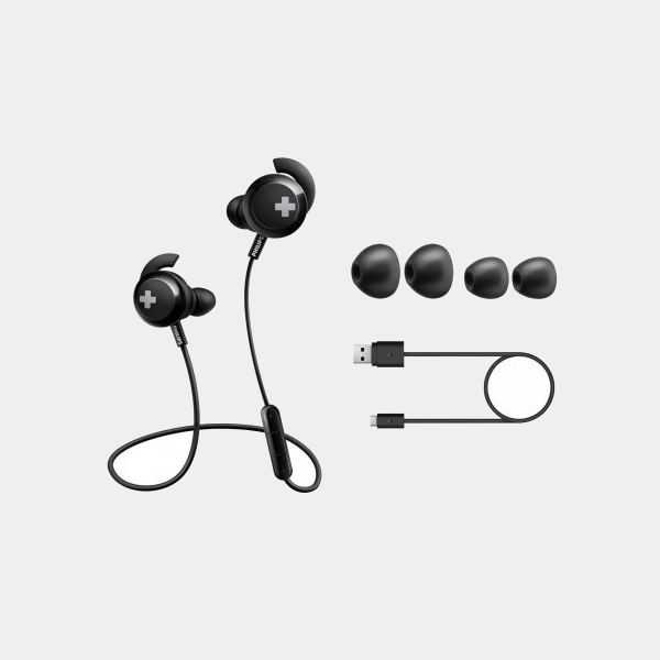 Philips Shb4305bk auriculares Negro Bass+