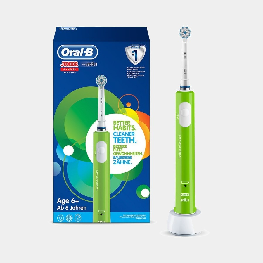 Braun D16 Infantil Junior cepillo dental Verde