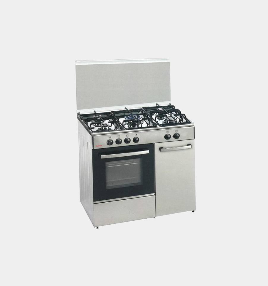Corbero cc501gb90x cocina 5 fuego gas butano con for Cocinas 5 fuegos gas