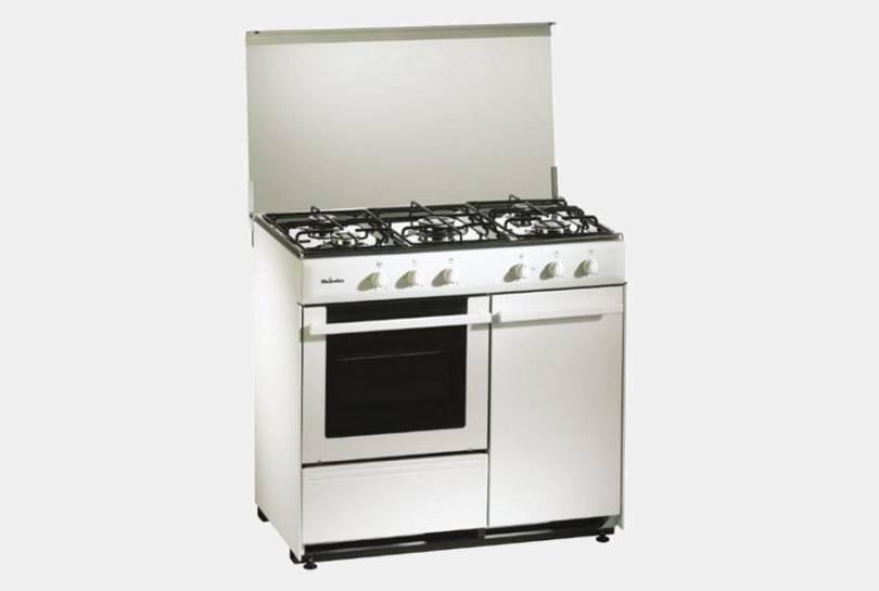Meireles g2950dvw cocina gas de 5 fuegos con portabombonas for Cocinas 5 fuegos gas