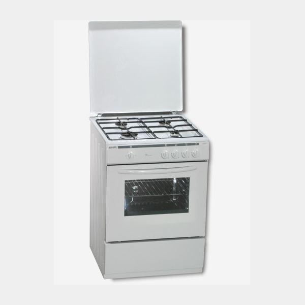 Rommer vch460 cocina blanca de gas butano de 85x60 4 fuegos for Cocinas rommer opiniones