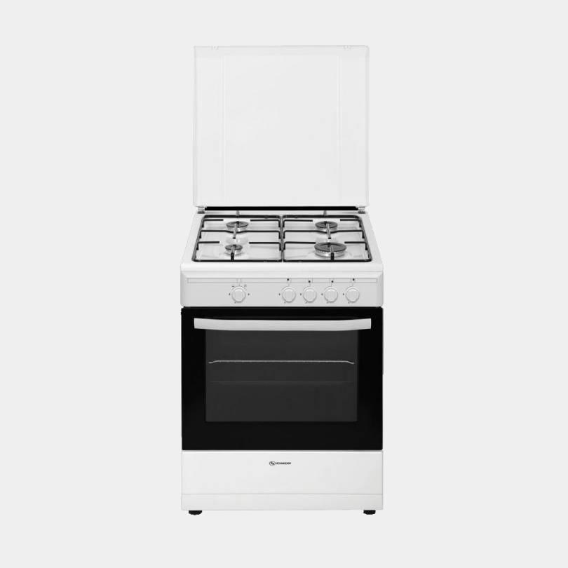 Schneider scg6020 cocina de gas butano 4 fuegos 60x64 for Cocinas de gas butano sin horno
