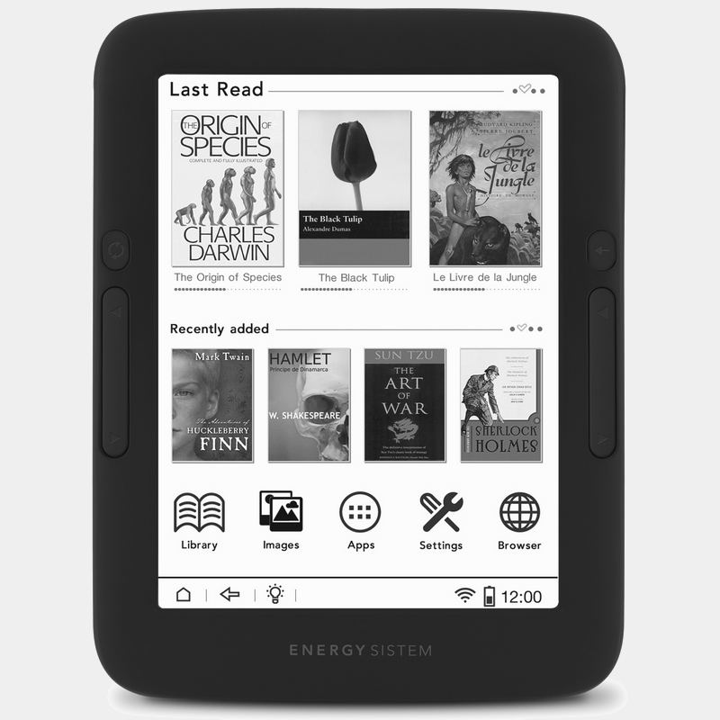 Energy Ereader Pro Ebook HD 6 Iluminado Tactil
