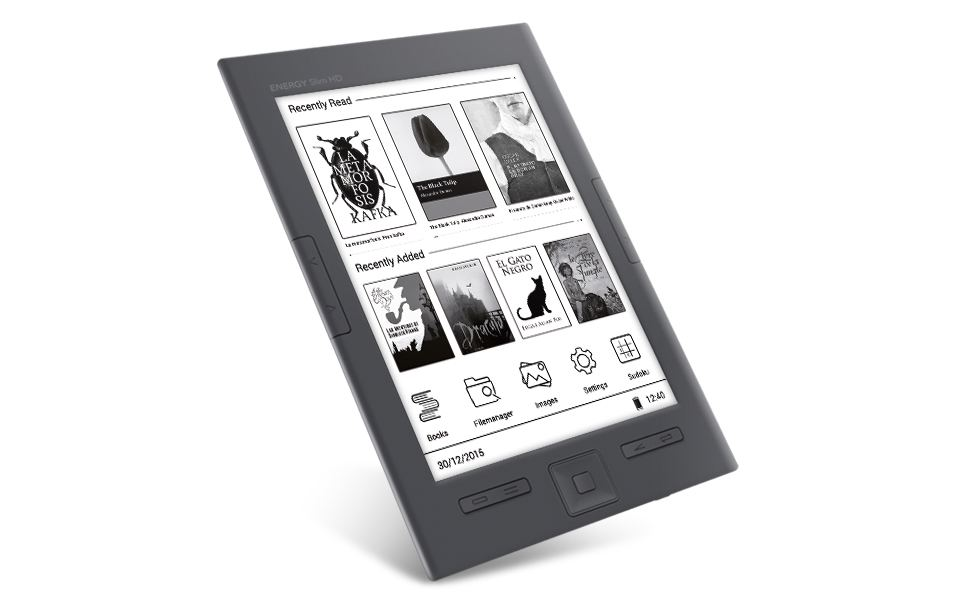 Energy Ereader Slim Ebook HD de 6 Tinta con 8Gb