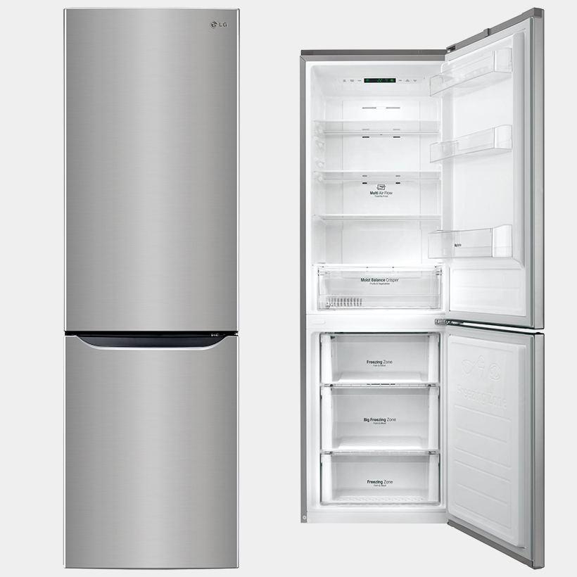 lg gbb59pzpfs frigorifico combi inox 190x60 no frost a. Black Bedroom Furniture Sets. Home Design Ideas