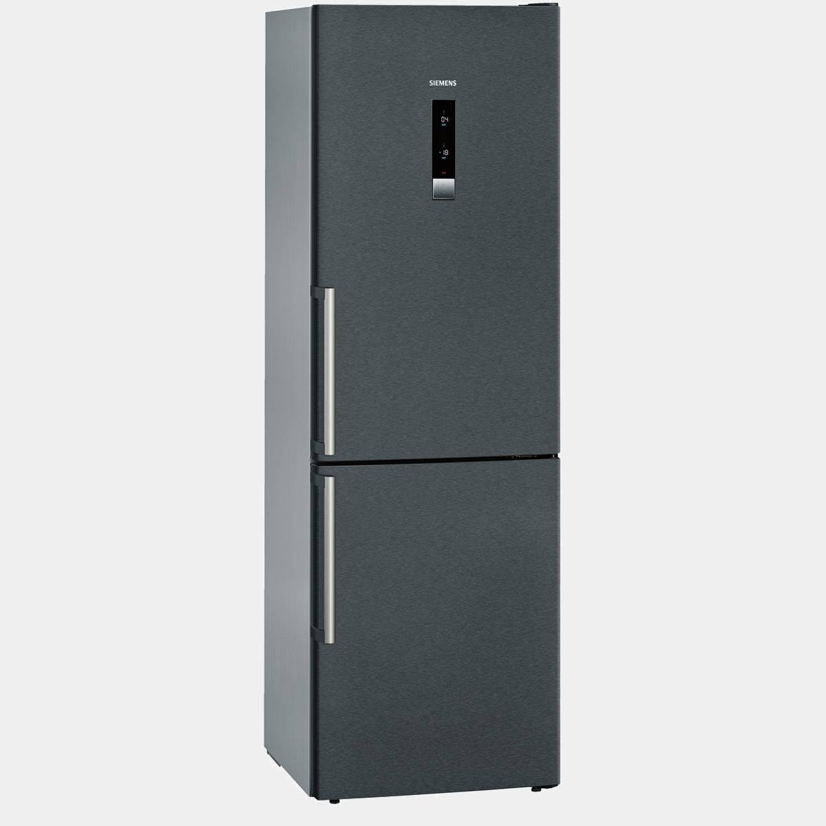 combi siemens kg36nxx30 negro de 185x60 no frost a. Black Bedroom Furniture Sets. Home Design Ideas