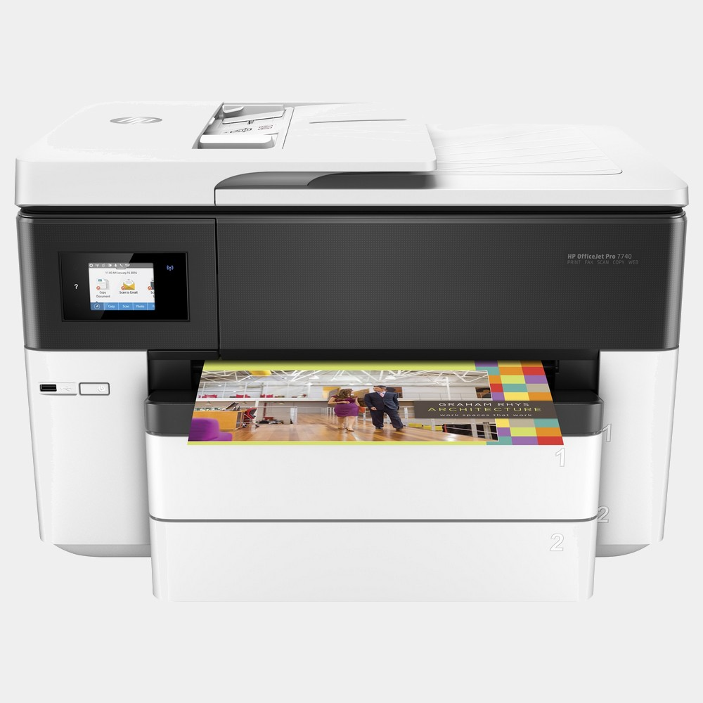 HP Inyeccion Color Officejet Pro 7740 Aio -  Fax -  A3 -