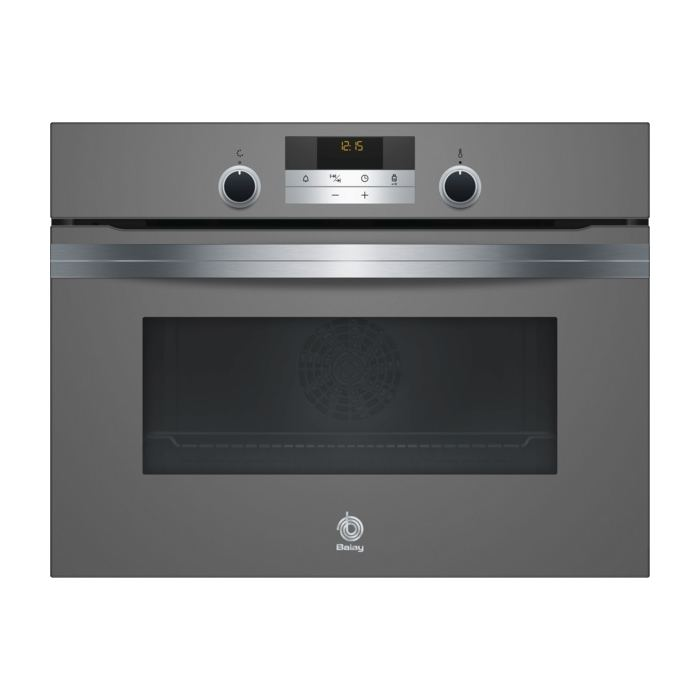 Horno Balay 3cb5351a0 gris antracita multifuncion de 45 cm