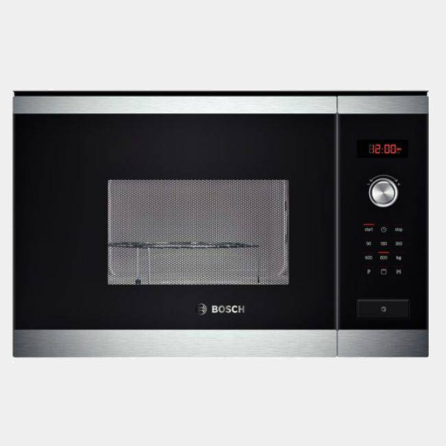 Microondas integrable bosch hmt75g654 negro inox grill izqda for Microondas integrable