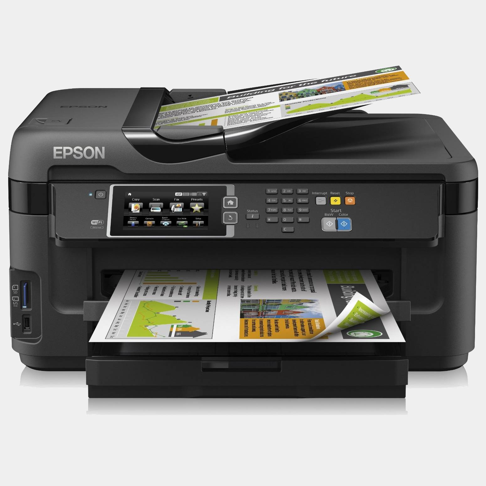 Epson Workforce Wf7610dwf Fax multifuncion de inyeccion color