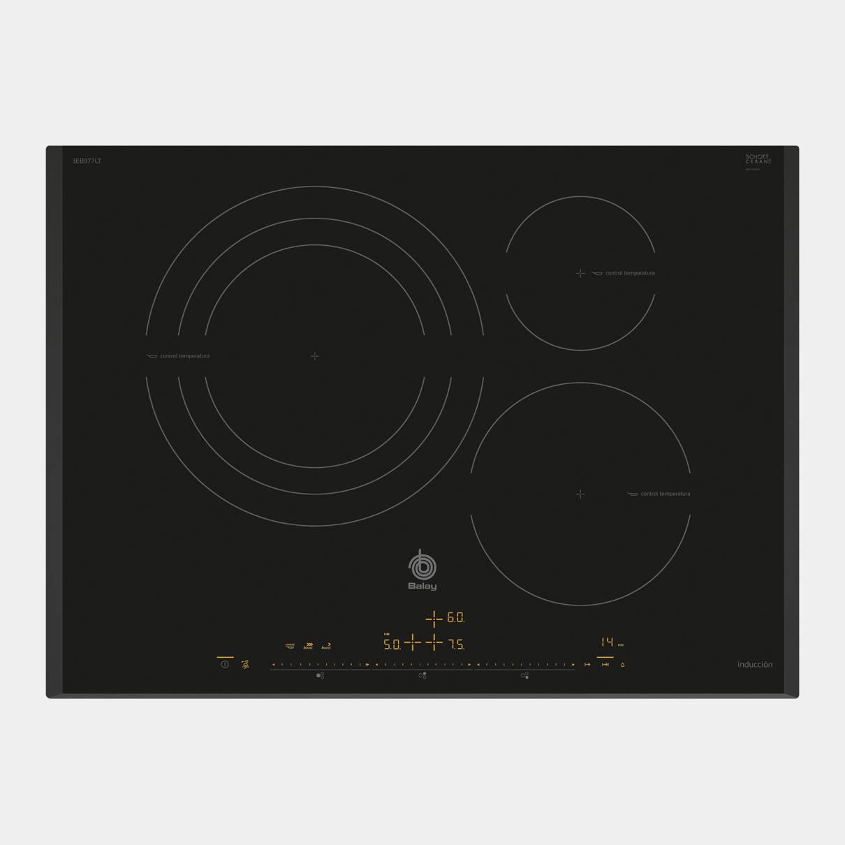 Placa de induccion balay 3eb977lt de 3 fuegos 70cm - Cocinas de induccion balay ...