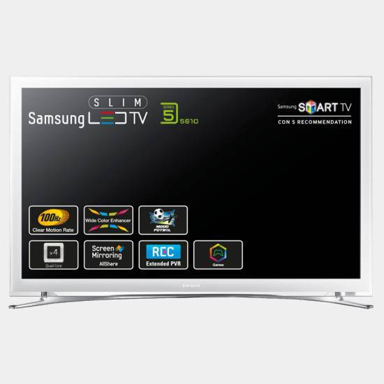 televisor led samsung ue22h5610 blanco quad smart fhd wifi. Black Bedroom Furniture Sets. Home Design Ideas