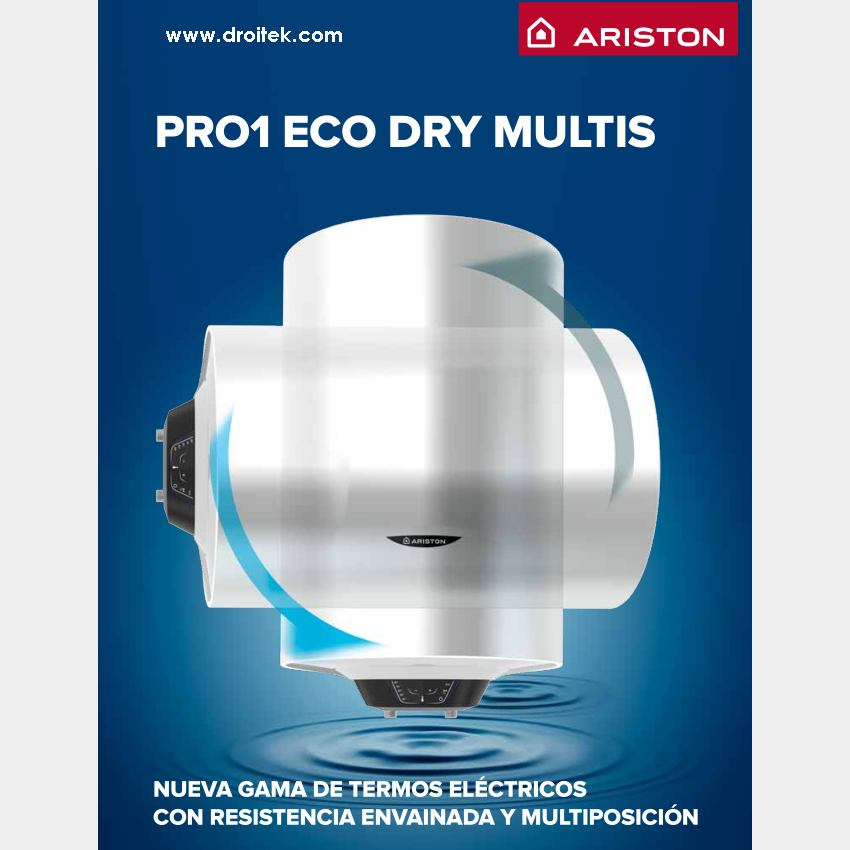 Ariston Pro1 Eco Dry Multis de 100 litros termo electrico
